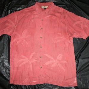 Tommy Bahama Mens Short Sleeve 100% Silk Shirt Siz